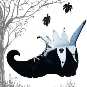 Black White Forest Boot