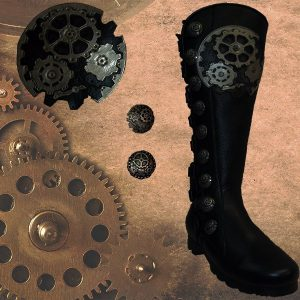Steampunk 9 Button Boot